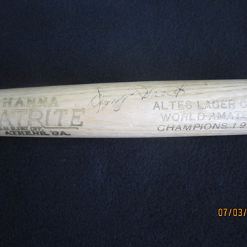 1938 Negro League Hanna Batrite Athens GA Original Dizzy Trout Autograph Altes Lager Club World Amateur Champions Baseball Bat - Baseball