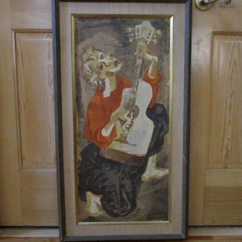Mid-Century Modern Impressionist Painting Picasso Style - Mid-Century Modern