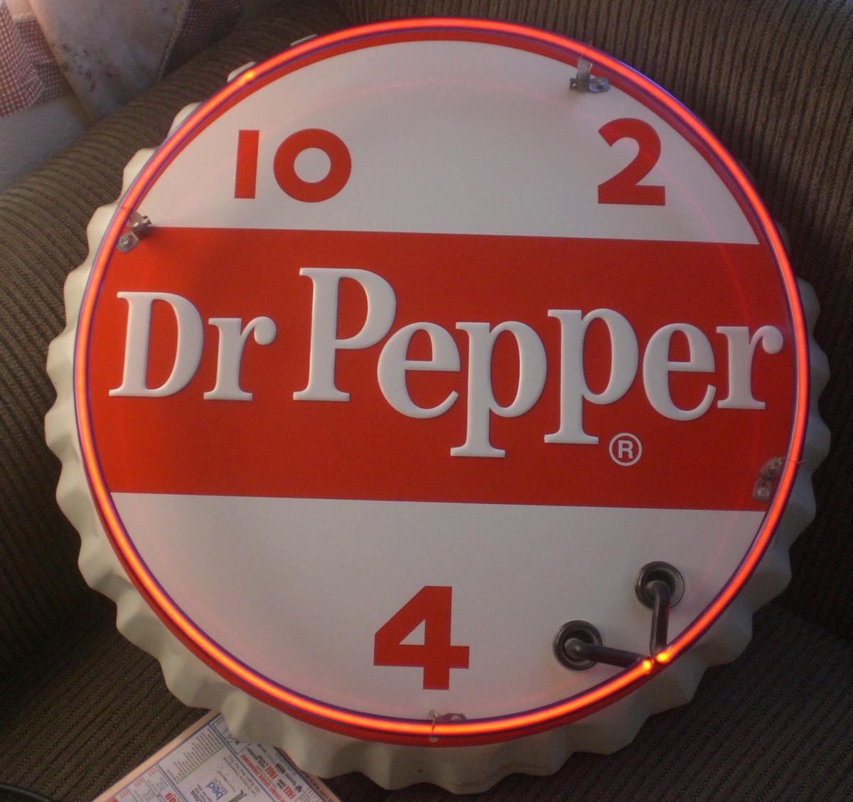Vintage Dr Pepper Sign 85