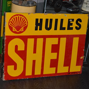 shell french porcelain sign - Signs