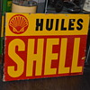 shell french porcelain sign