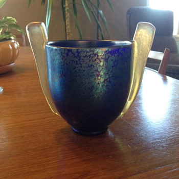 Czechoslovakian Coronet Deco Vase?  - Art Glass