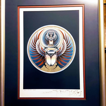 "Stanley Mouse signed ""Captured"" Journey Album Cover. Test Print Lithograph, 2003.  - Fine Art"
