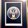 """Stanley Mouse signed """"Captured"""" Journey Album Cover. Test Print Lithograph, 2003."""