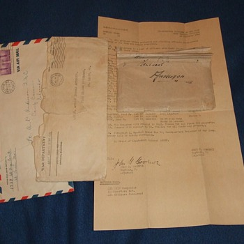 WW2 German POW letter of thanks to US Officer