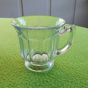 Clear punch bowl cups - 11 - possibly Heisey? - Glassware