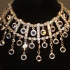 Rhinestone and Bezel set Crystal Swarovsky Festoon Necklace