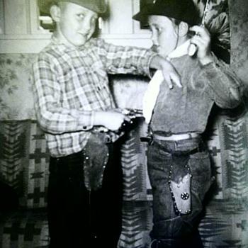 "Dad and aunt K ""cowboy dressup"" - Photographs"