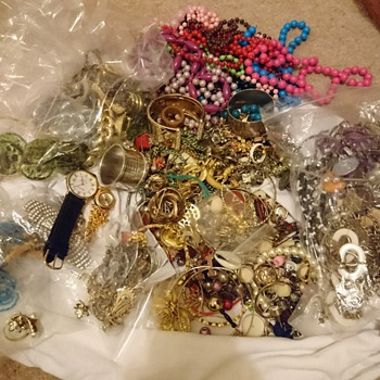 The large bag of jewellery!  - Costume Jewelry