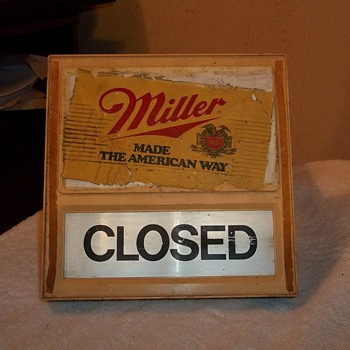 OPEN/ CLOSED SIGN - Breweriana