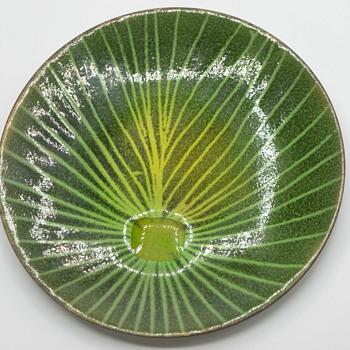Copper enameled plate - Mid-Century Modern