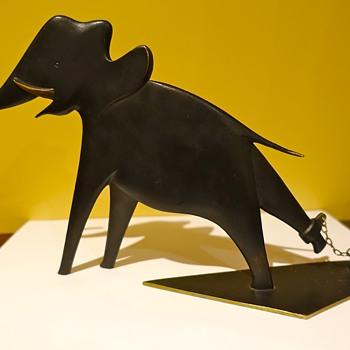LATEST PURCHASE, RARE ART DECO BRONZE HAGENAUER ELEPHANT