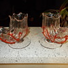 Pair Loetz Shell Vases with applied Coral Circa 1890? Help with Positive ID