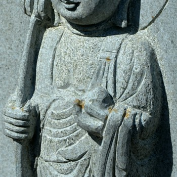 Incredibly beautiful carved granite statue of Buddha - Asian