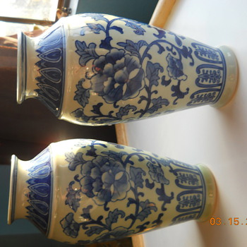 My first Chinese vases - Blue and white - Asian