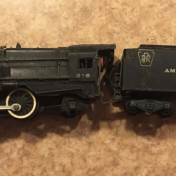 American Flyer 316 Engine with tender - Model Trains