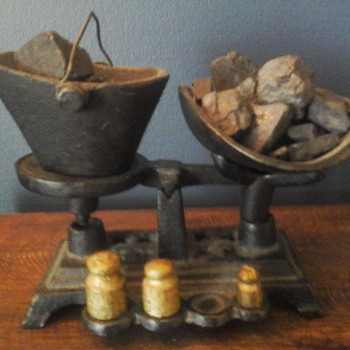 Miniature Coal Bucket And Weights  - Tools and Hardware