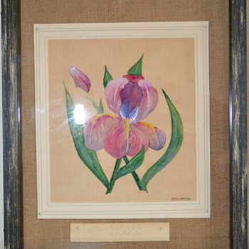 Iris Watercolor - Fine Art