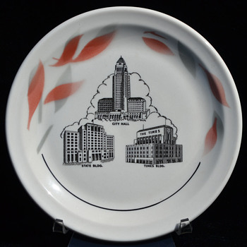 Los Angeles Civic Center bread plate - Wallace