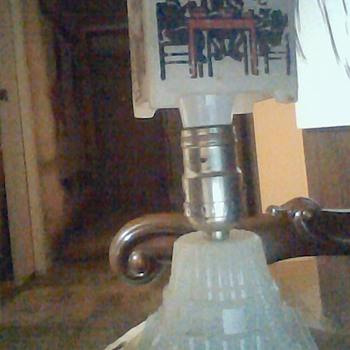 Antique Milk Glass Houze Goldilocks and The Three Bears Night Stand Lamp - Lamps