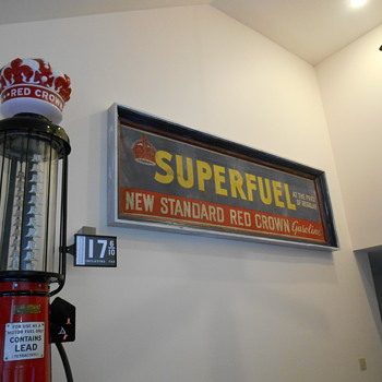 Standard Red Crown gasoline banner - Petroliana