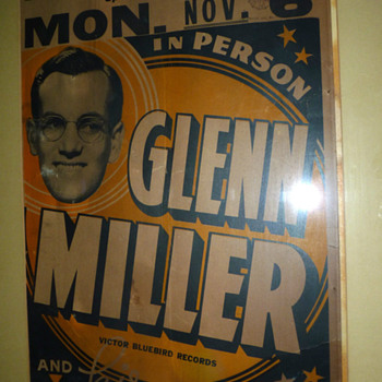 Glenn Miller Poster 1938 - Posters and Prints