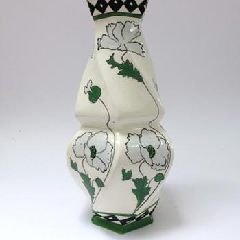 Big Czechoslovakia baroque-jugendstil vase