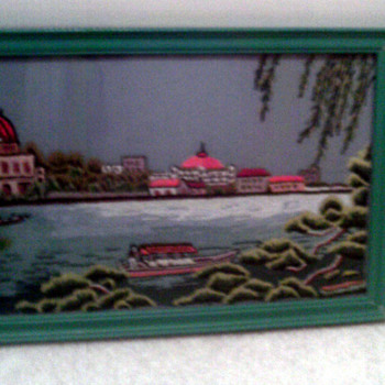Chinese? needlepoint picture - Asian