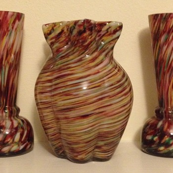 Honeycomb and relation - trio - Art Glass