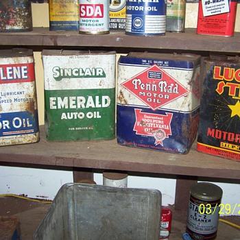 2 gallon cans  - Petroliana