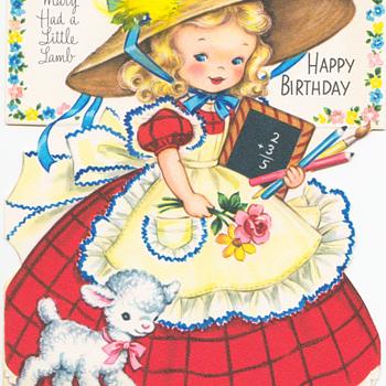 Mary Had a Little Lamb | Fairfield Birthday Story Card