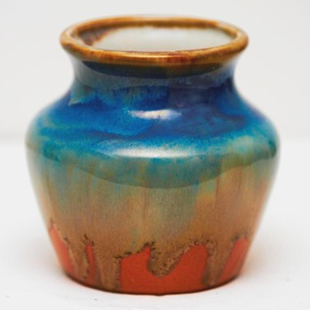 Two drip glaze vases, Fritz Krug (Germany), ca. 1910 - Pottery
