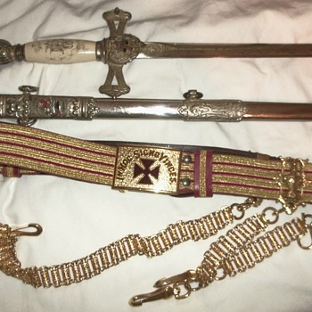 Circa 1925-30 Lilley Co. Knights Templar Sword Ceremonial?  - Military and Wartime