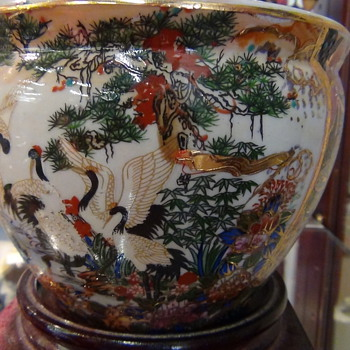 Royal Satsuma Oriental Pot With 22 Carrot Gold Leaf From The 1800's - Asian