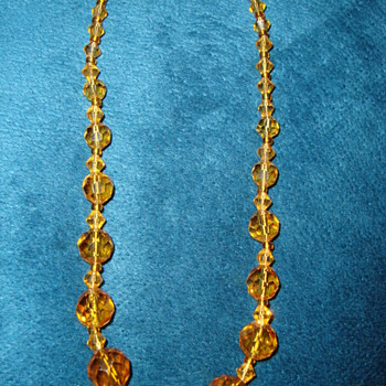 Amber Color Necklace - Costume Jewelry