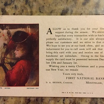old bank postcard,early 1900's - Postcards
