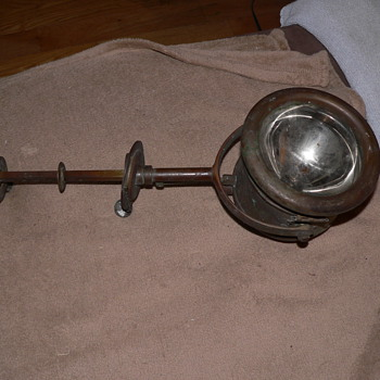 Old brass search light or maybe spot light?