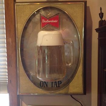 Budweiser three dimensional sign  - Breweriana