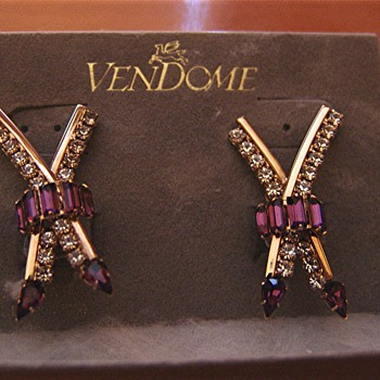 My inherited Vendome earrings - or are they? - Costume Jewelry