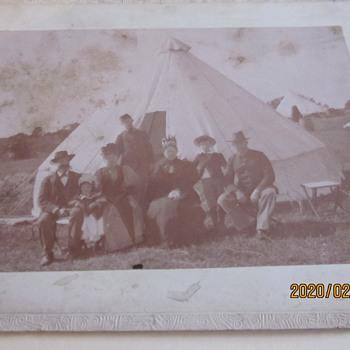 Post war photo of Civil War veteran in CA 1890s Army Camp - Photographs