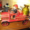 Tm {tin} battery operated fire engine