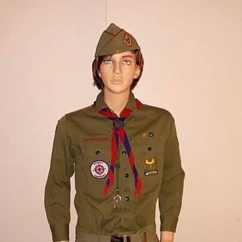 Saturday Evening Scout Post 1955-1964 Boy Scout Uniform With Original Patches - Medals Pins and Badges