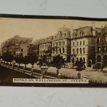 1910 Photo, The Banks on Wellington st., Ottawa - Photographs