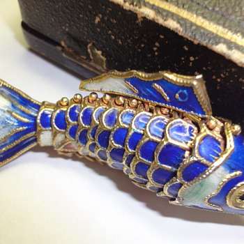 Chinese so called cloisonne fish pendant - Asian