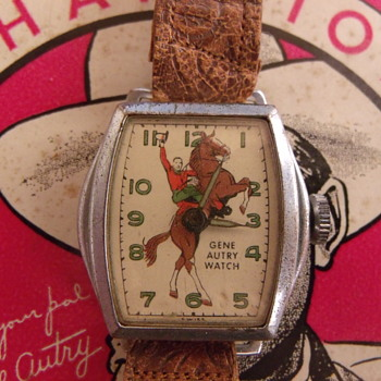 @ Celeine.....Cousin Gene Autry....first issue wristwatch Wilane 1948 - Wristwatches