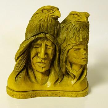 "Post 5 of 5-Thomas Maracle""Stone Carving""20 Century - Fine Art"