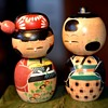 A Pair of Kokeshi Bobble Heads