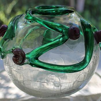 Colin Heaney Australia Round Vase 1994 - Art Glass