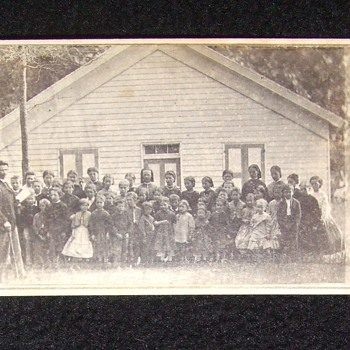 CDV of Civil War era one- room school house - Photographs