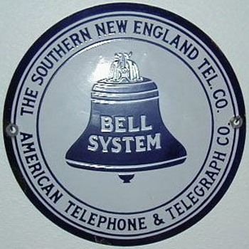 Southern New England Telephone Co. Hubcap Sign